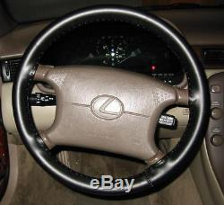 CLASSIC FORD Leather Steering Wheel Cover Wheelskins Custom Fit You Pick Color