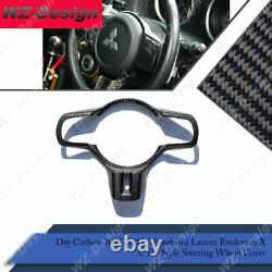 CTS Dry Carbon Steering Wheel Cover For 08-17 Mitsubishi Lancer EVO X EVO 10