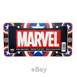 Captain America Car Truck Front Seat Covers Floor Mats Steering Wheel Cover Set