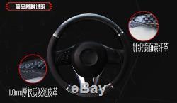 Car Black Carbon fiber Leather Steering Wheel Cover 38cm/15'' fashion 2018 new