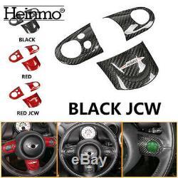 Car Carbon Steering Wheel Cover For Mini Cooper JCW R55 R56 R57 R58 R59 R60 R61