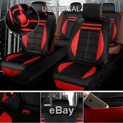 Car SUV Interior Seat Cover Steering Wheel Full Set Soft Cushion 5-Sit Accessory