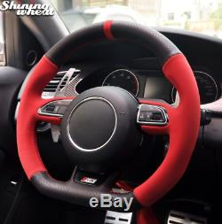 Car Steering Wheel Cover for Audi RS4 RS5 S5 2012-2016 SQ5 S4 2013-2018