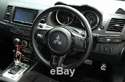 Carbon Coltspeed Style Steering Wheel Cover For 08-12 Mitsubishi EVO 10 EVO X