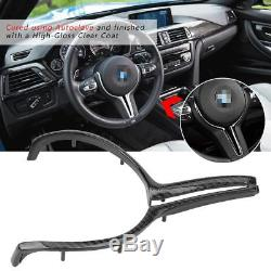 Carbon Fiber Car Inner Steering Wheel Cover Trim For BMW M2 M3 M4 M5 M6 X5M X6M