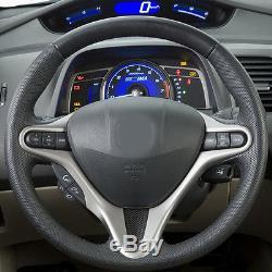 Carbon Fiber Car Steering Wheel Cover Decor Modification for Honda Civic 2009-11