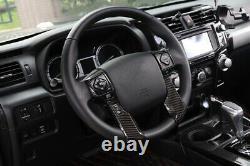Carbon Fiber Dashboard & Steering Wheel Cover Frame Trim For Toyota 4Runner 10+