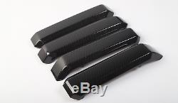 Carbon Fiber Interior Door Handle&Steering Wheel Cover Trim For Ford F150 15-17
