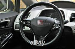 Carbon Fiber Interior Kit Fit For 06-10 Honda CIVIC Steering Wheel Cover