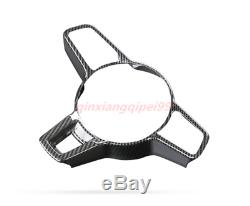 Carbon Fiber Interior Steering Wheel Cover Trim For Porsche Macan 2014-2019