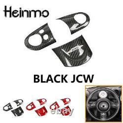 Carbon Fiber JCW Steering Wheel Spoke Cover For MINI COOPER R55 R56 R57 R59 R60