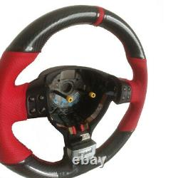 Carbon Fiber&Leather Hand Sewing Steering Wheel Wrap Cover For VW Golf MK5 GTI
