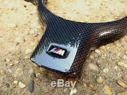 Carbon Fiber M Steering Wheel Cover Trim for BMW E46 M3 E39 X3 X5 M5 2x2 plain