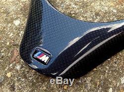 Carbon Fiber M Steering Wheel Cover for BMW M3 Trim E90 E91 E87 E88 E81 E82 2x2