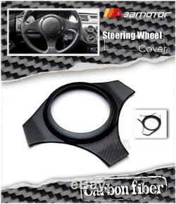 Carbon Fiber Matte Coat Steering Wheel Cover for Mitsubishi Evolution EVO 7 8 9