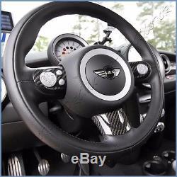 Carbon Fiber Sport Type Steering Wheel Cover Set For 07 On Mini Cooper S R55-R61