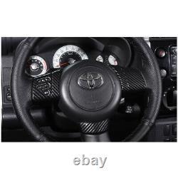 Carbon Fiber Steering Wheel Button Cover Trim For Toyota FJ Cruiser 2007-2014