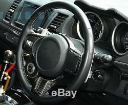 Carbon Fiber Steering Wheel Control Cover For Mitsubishi EVO 10 EVO X 2008-2012