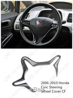 Carbon Fiber Steering Wheel Cover For 2006-2010 Honda Civic
