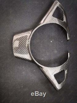 Carbon Fiber Steering Wheel Cover Frame for 2004-2010 BMW E60 E61 5 Series M5