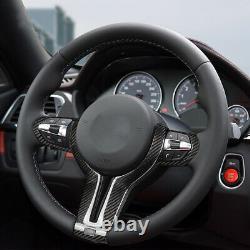 Carbon Fiber Steering Wheel Cover Inner Trim For M2 M3 M4 M5 M6 X5M X6M 2014+
