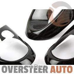 ^ Carbon Fiber Steering Wheel Cover Set For Mini Cooper F54 F55 F56 14-16