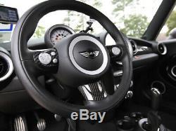 Carbon Fiber Steering Wheel Cover Set For Mini Cooper R55/R56/R57