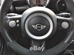 Carbon Fiber Steering Wheel Cover Set For Mini Cooper R55/R56/R57 3pcs