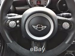 Carbon Fiber Steering Wheel Cover Set For Mini Cooper R55 R56 R57 (3pcs / Set)