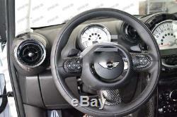 Carbon Fiber Steering Wheel Cover Set for 2007-13 Mini Cooper S R55 R56 R57