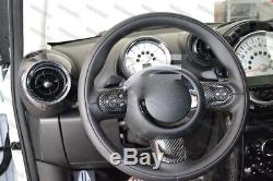 Carbon Fiber Steering Wheel Cover Set for 2007-2013 Mini Cooper S R55 R56 R57