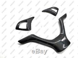 Carbon Fiber Steering Wheel Cover Set for 2008-2013 BMW X5 E70 E71 2009 2010