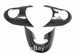 Carbon Fiber Steering Wheel Cover Set for Mini Cooper JCW F56 2014 Up