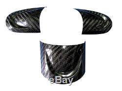 Carbon Fiber Steering Wheel Cover Set for Mini Cooper R55 R56 R57 07-13