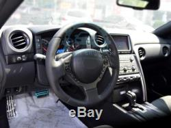Carbon Fiber Steering Wheel Cover Trim Fit For Nissan GTR R35