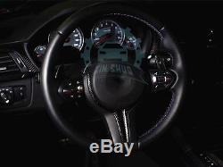 Carbon Fiber Steering Wheel Cover Trim For BMW M3 M4 M5 M6 F80 F82 F83 F10 F12