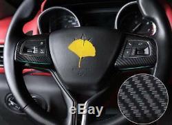 Carbon Fiber Steering Wheel Cover Trim For Maserati Levante 16-17 Ghibli 14-16