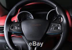 Carbon Fiber Steering Wheel Cover Trim For Maserati Levante 2016-17 Ghibli 14-16