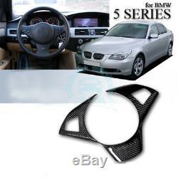 Carbon Fiber Steering Wheel Cover Trim Interior For BMW 5 Series E60 E61 01-07