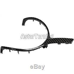 Carbon Fiber Steering Wheel Cover Trim fit for BMW 1-7 series X1 X3 X4 X5 X6