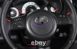 Carbon Fiber Steering Wheel Decoration Cover Trim For Toyota FJ Cruiser 07-2020