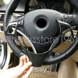 Carbon Fiber Steering Wheel Trim Cover For 2005-2012 BMW 3 Series E90 E92 E93