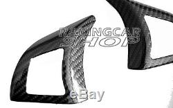 Carbon Fiber Steering Wheel Trim Cover For BMW E70 X5 M Sport 2007-2012 b334Y