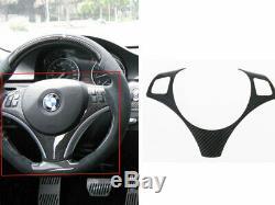 Carbon Fiber Steering Wheel Trim Cover For BMW E90 E92 E93 E87 LCI