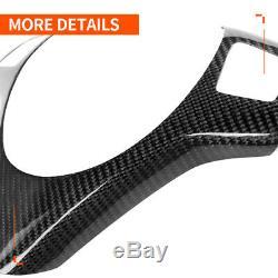 Carbon Fiber Steering Wheel Trim Cover For BMW E90 E92 M3 M Sport