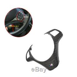 Carbon Fiber Steering Wheel Trim Cover For Bmw E90 E92 E93 M3 E82 1m 08-13