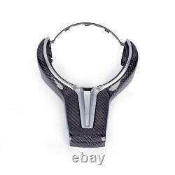 Carbon Fiber Steering Wheel Trim for BMW M2 F87 M3 F80 M4 F06 F12 F13 X6M Silver