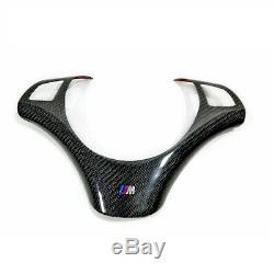 Carbon Fiber Steering Wheel Trims Fit For BMW 1 3 series E87 E82 E88 E90 E92 E93