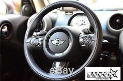 Carbon Fiber Steering wheel cover For MINI Cooper 2007-2013 R55-R61 3 Pieces Set