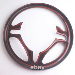 Carbon Fiber Style Plastic Steering Wheel Cover Trim For Honda Civic 2012-2015